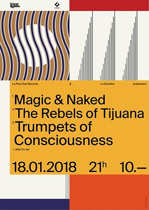 Poster Magic&Naked / Rebels of Tijuana / Trumpets of Consciousness Limited Ed.