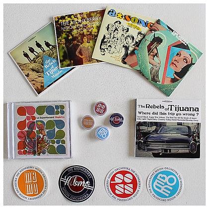 Rat PACK 6 CD Le Pop club records + goodies