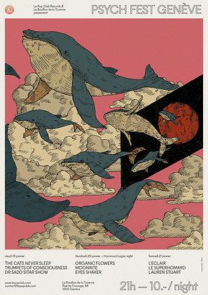 Poster Psych Fest Genève 2017 limited ed