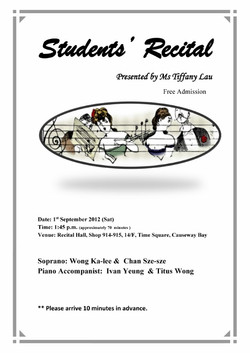 Kalee Wong and Sze Sze Recital 2012