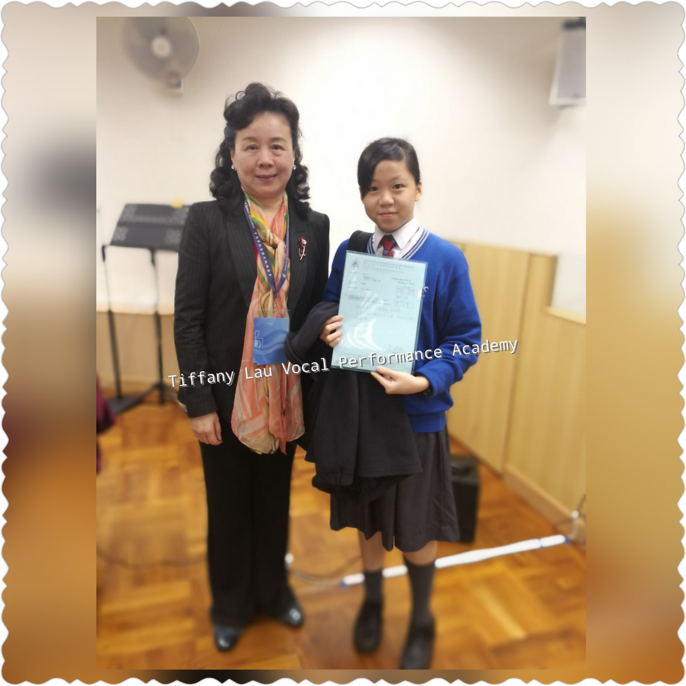 Second Runner-up in Chinese ( age 14 and under) 第三名-14歲以下-女聲-中文歌曲 27-Mar-2017