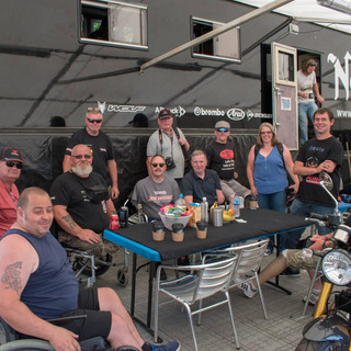 Hanging in the pits with Norton Team