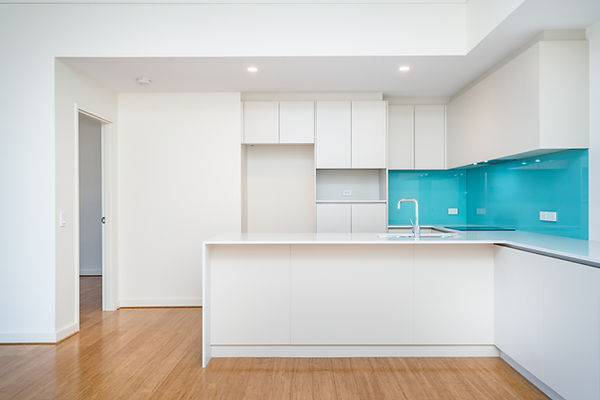 Clean interior of apartment kitchen with