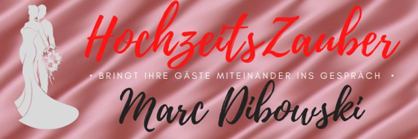 Zauberer zur Hochzeit mieten: Marc Dibowski. Magier Hochzeit Empfang.