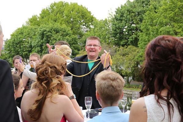 Zauberer zum Empfang Hochzeit NRW Dibowski