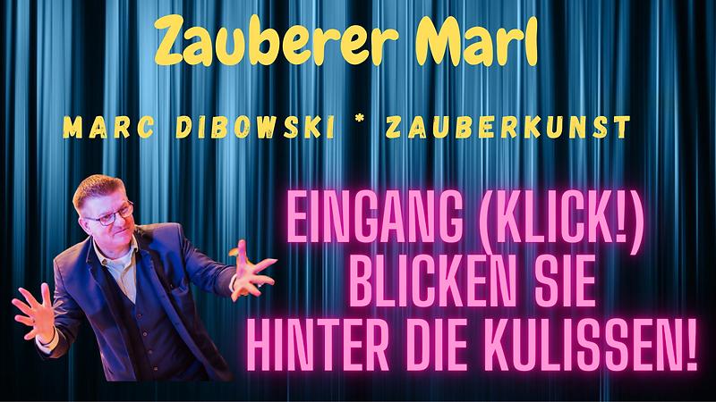 Zauberer Marl engagieren: Marc Dibowski. Zur Hochzeit, zur Geburtstagsfeier oder für die Betriebsfeier.