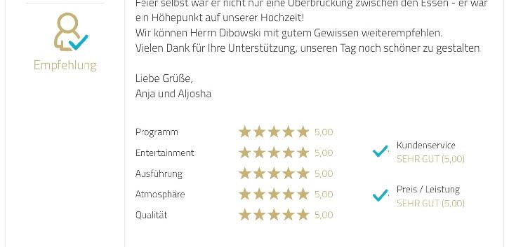 Hochzeit-NRW-Zauberer-Dibowski-Bewertung
