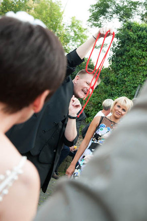 Outdoor Zaubern Empfang Entertainment Idee Hochzeitszauberer