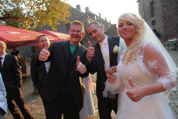 Unterhaltung Gäste Empfang Hochzeit