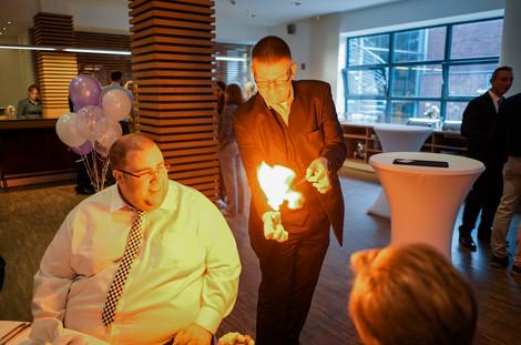 Magier-Hochzeit Empfang NRW Showact Dibowski