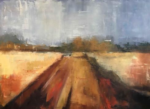 Michigan Run Abstract Landscape_DailyArt