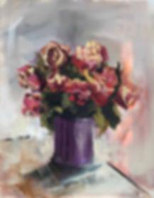 Monday Bouquet: Daily Artist : 16 x 20 :