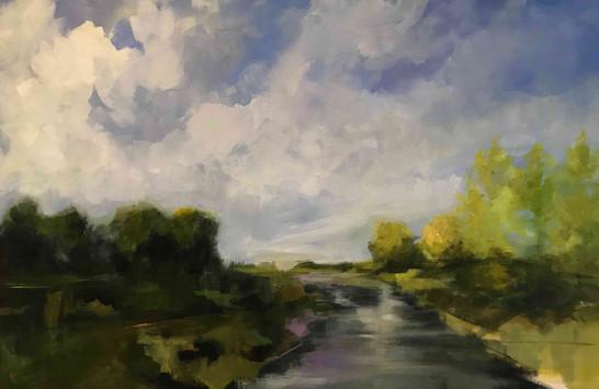 Ottauquechee River _Daily Artist_ 24 x 3