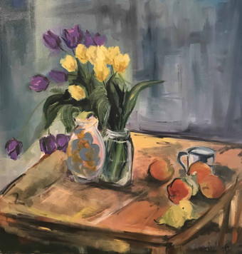 Breakfast with Tulips_ Daily Artist_30x