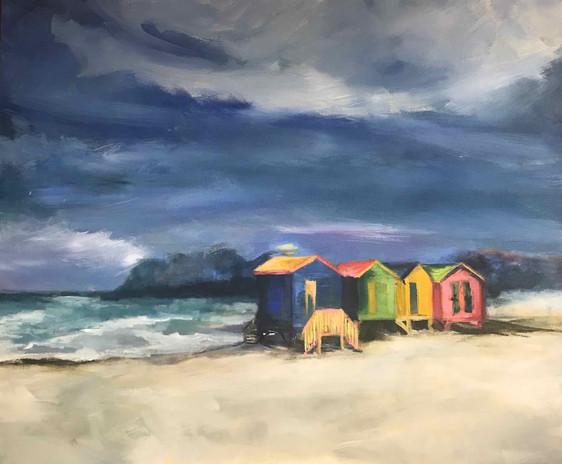 Cape Town Beach Huts_acrylic_30x36_Feb20