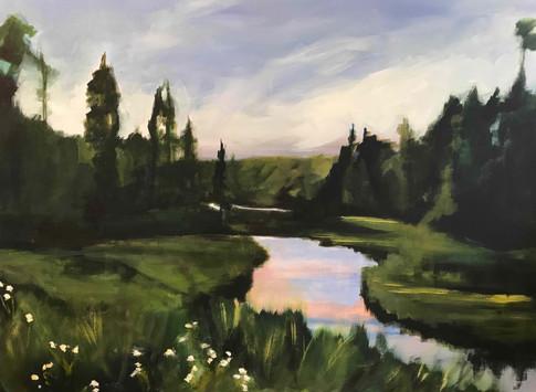A River Runs Through It_acrylic_30x40_Da