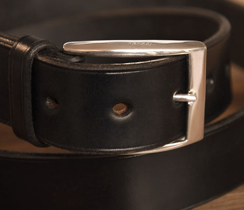 Belt Leon black Sterling Silver Bicknall
