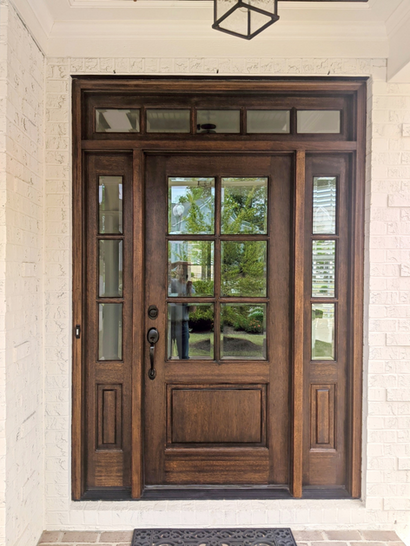 Stained Front Door