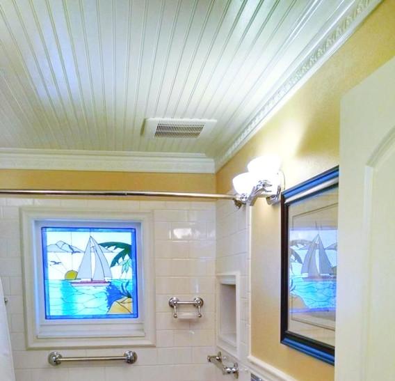 Bathroom Stain Glass window