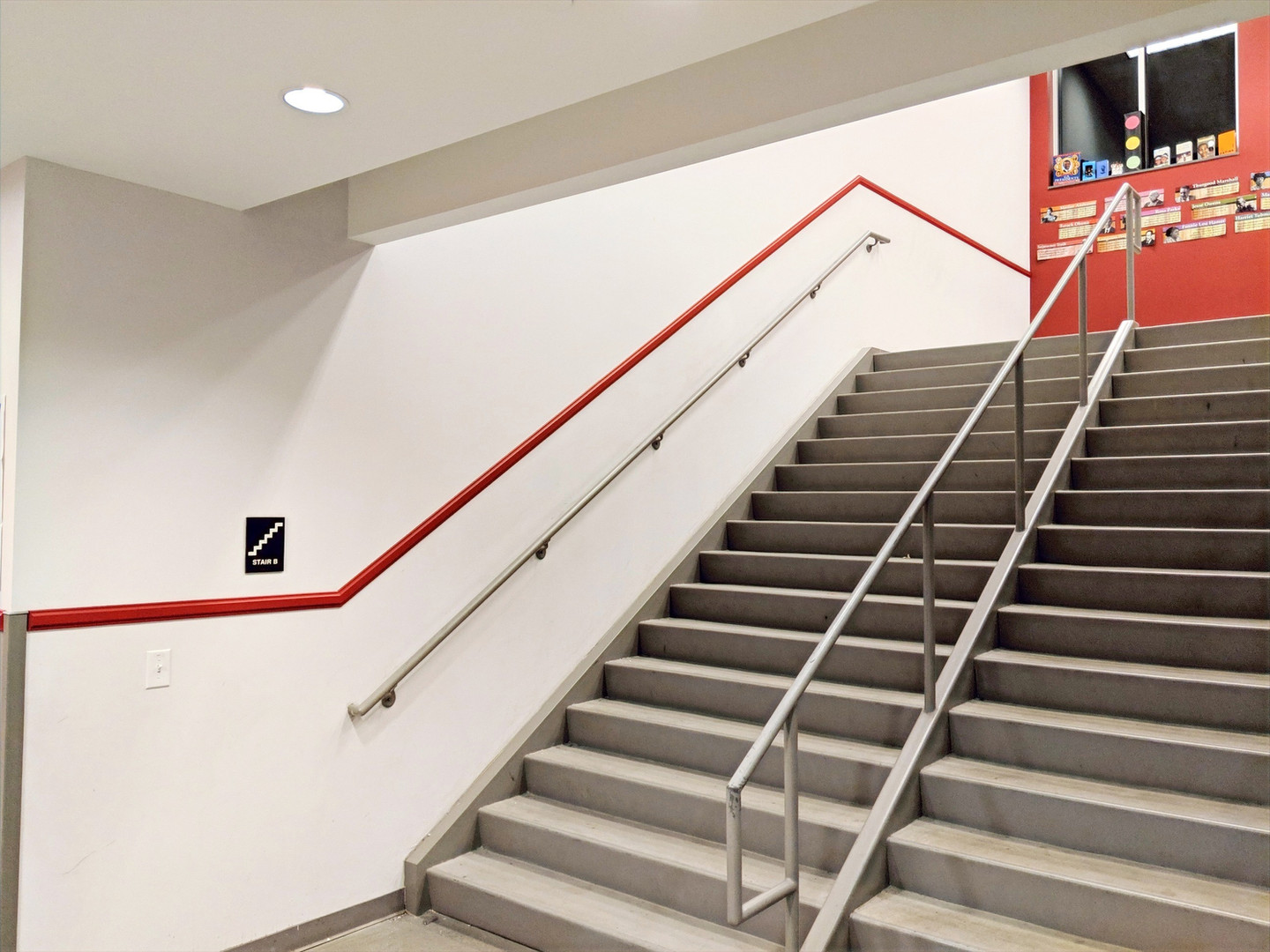 School Stairs Modling and Paint