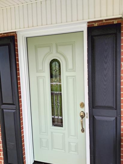 Front Door Painted