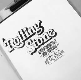 A collection of hand lettering.