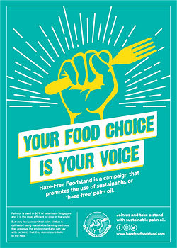 hazefree foodstand campaign poster FA pa