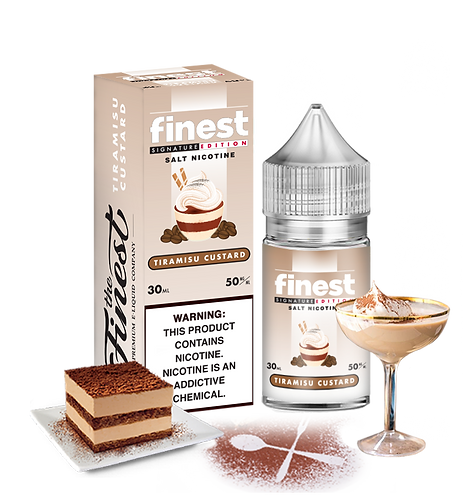 The Finest Salts - Tiramisu Custard 30ml