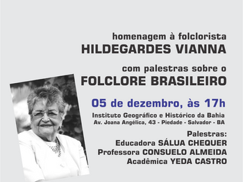 Hildegardes Vianna recebe homenagens dia 5 de dezembro
