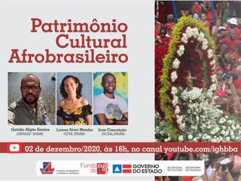 Live debate Patrimônio Cultural Afrobrasileiro
