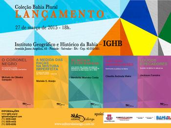 IGHB sedia lançamento da Coleção Bahia Plural dia 27/03