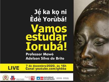 Vamos estudar Iorubá? Live acontece dia 7 de dezembro