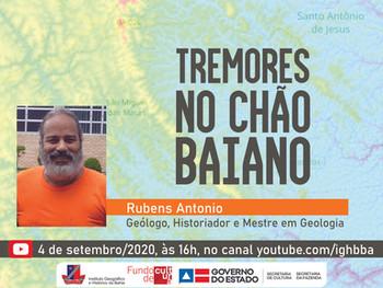 """Os """"Tremores no chão baiano"""" serão explicados pelo geólogo Rubens Antonio nesta sexta (4)"""