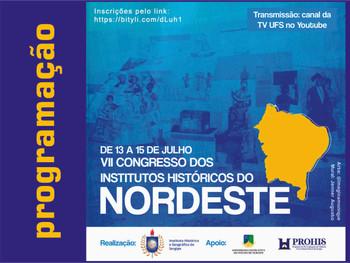 VII Congresso dos Institutos Históricos do Nordeste - confira a programação