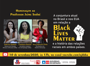Movimento Black Lives Matter (Vidas Negras Importam) entra em debate no canal do IGHB no youtube