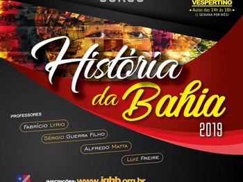 IGHB promove nova edição do Curso História da Bahia, com carga horária de 80 horas (vespertino)
