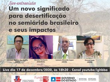 """Live debate """"Um novo significado para desertificação no semiárido brasileiro e seus impactos"""""""