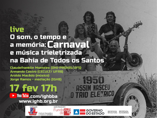 IGHB comemora o Carnaval da Bahia em live
