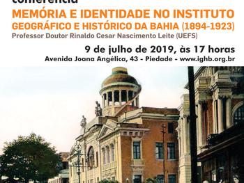 Professor Rinaldo Leite faz conferência sobre Memória e Identidade no IGHB