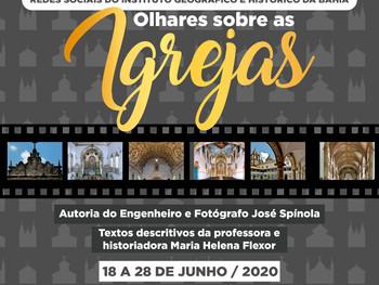 IGHB promove exposição virtual sobre as Igrejas de Salvador