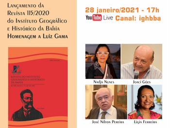 IGHB lança Revista 115 em homenagem a Luiz Gama nesta quinta(28) de janeiro