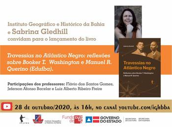 Escritora Sabrina Gledhill lança livro sobre Manuel Querino dia 28 de outubro, no canal do youtube