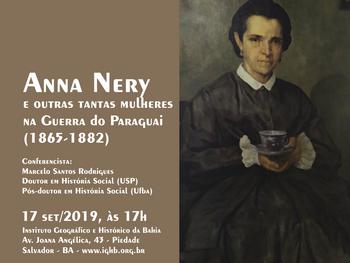 Anna Nery é tema de conferência dia 17 de setembro, no IGHB