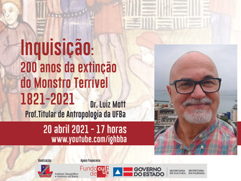 Professor Luiz Mott fala sobre a Inquisição nesta terça (20) de abril