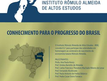 IGHB apoia  Centenário de nascimento de Rômulo Almeida