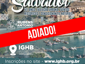Inscrições continuam abertas para o Curso sobre a Urbanização de Salvador