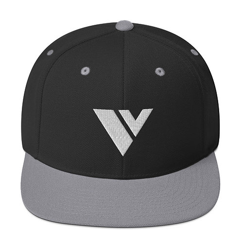 Two-Tone V Logo Snapback Hat