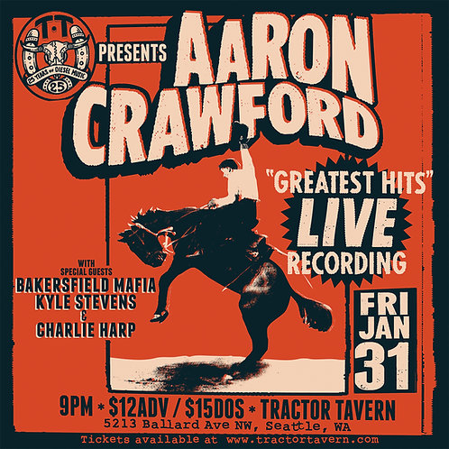 Aaron Crawford LIVE from the Tractor Tavern - DIGITAL FILES