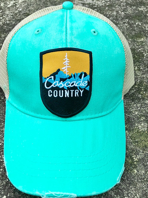 Teal Cascade Country Snap Back