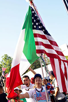 immigration, reform, Los Angeles, Hispanic, Latin, Mexican, Viva, celebrate, outdoor, flags, pride
